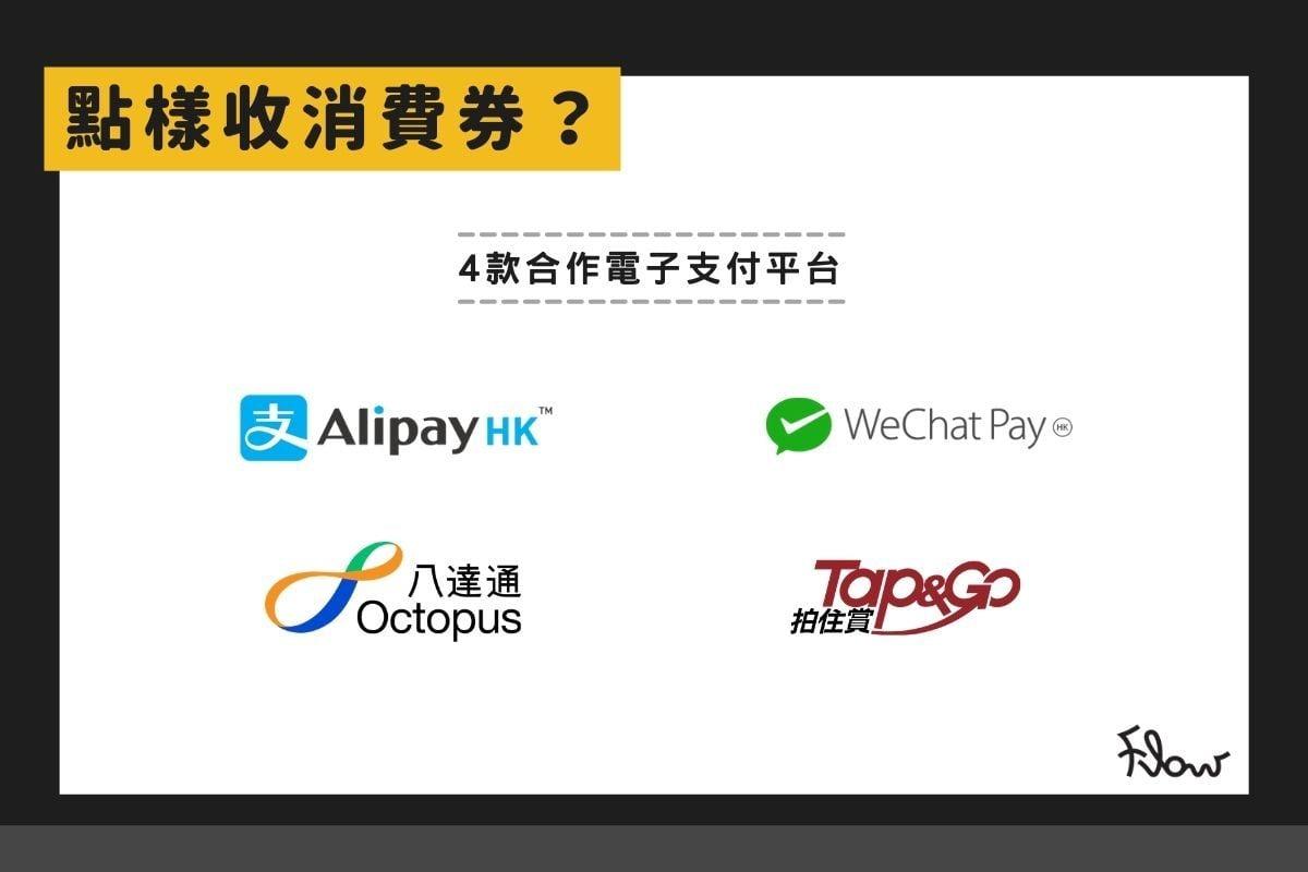 消費券透過哪幾個網上支付平台發放