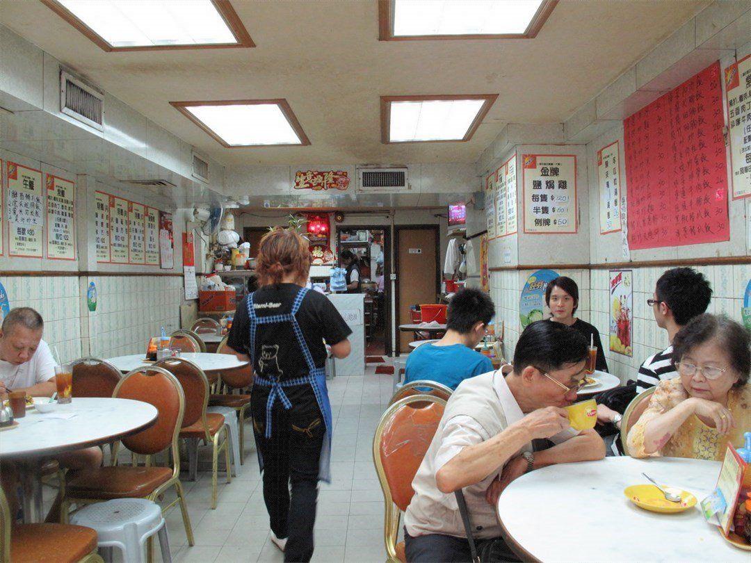 大圍美食漢年茶餐廳舊式裝潢,永恆不朽