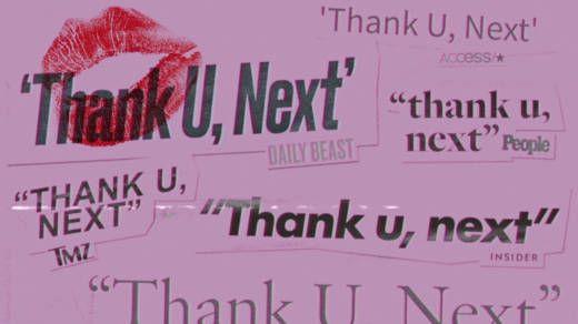Ariana Grande song Thank you, next