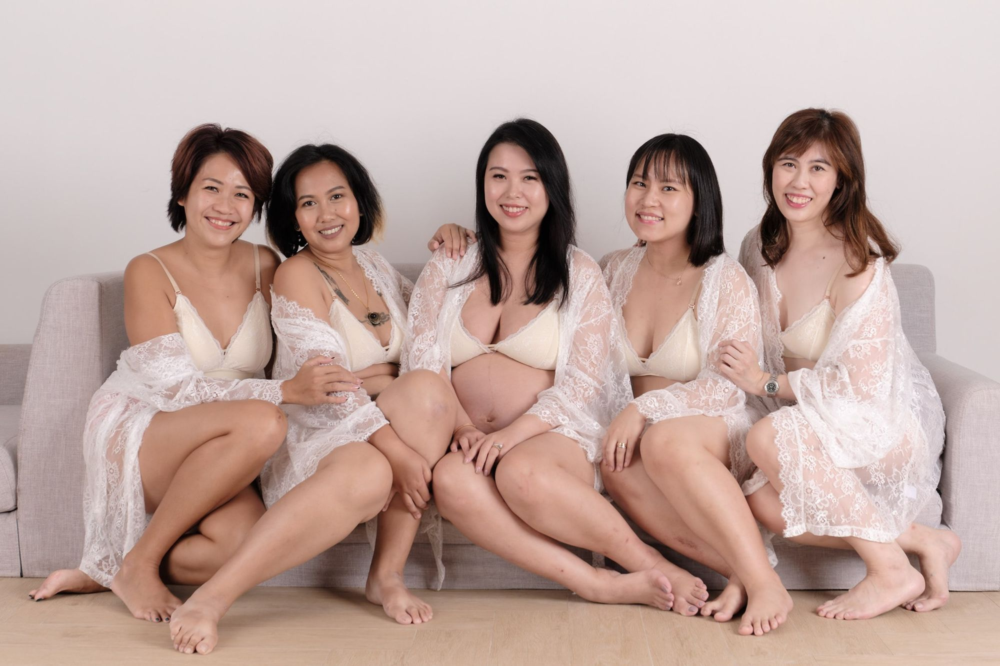 Ladies in lingerie from Our Bralette Club